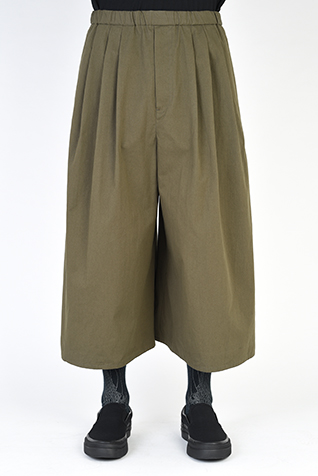 3TUCK CROPPED WIDE PANTS