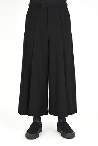 2TUCK CROPPED WIDE SLACKS