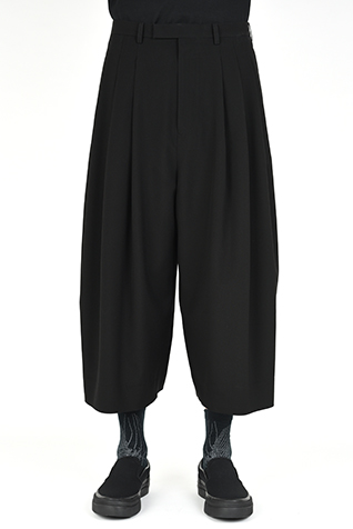 3TUCK CROPPED WIDE SLACKS