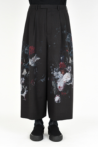 "<span class=""restock"">再入荷</span> 2TUCK CROPPED WIDE SLACKS"