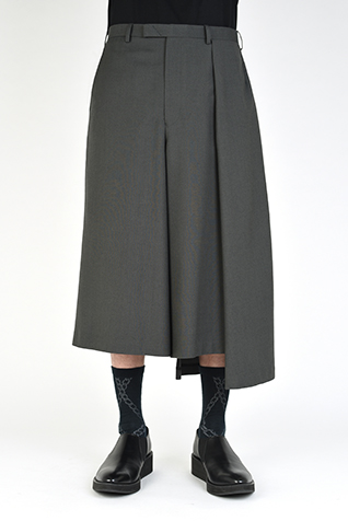 ASYMMETRY CROPPED SLACKS