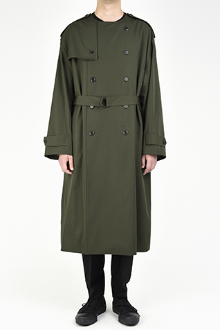 COLLARLESS TRENCH COAT