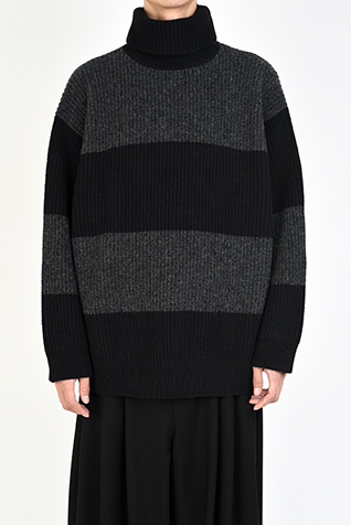 TURTLE NECK BIG PULLOVER