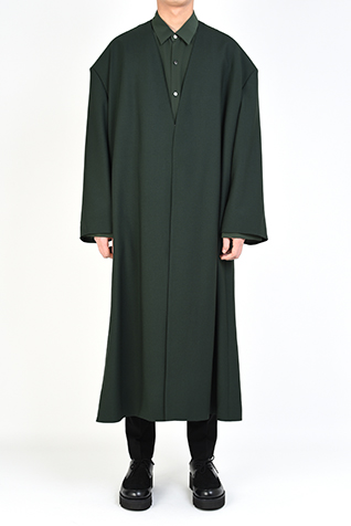 COLLARLESS LONG JACKET