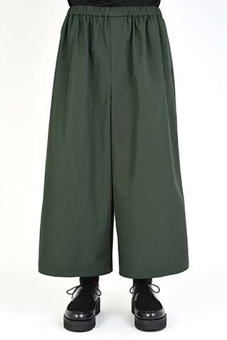 GATHER CROPEED  WIDE PANTS