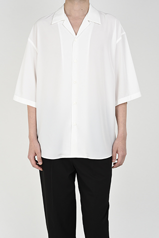 "<span class=""restock"">再入荷</span> OPEN COLLAR BIG SHIRT"