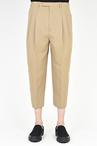 2TUCK WIDE TAPERED CROPPED SLACKS