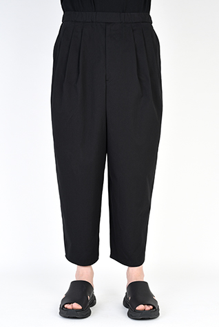3TUCK TAPERED WIDE CROPPED PANTS
