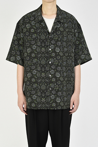 OPEN COLLAR BIG SHIRT