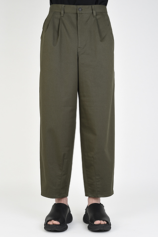 2TUCK TAPERED WIDE CROPPED PANTS