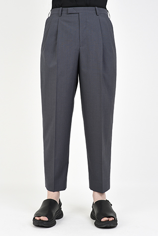 2TUCK TAPERED WIDE CROPPED SLACKS
