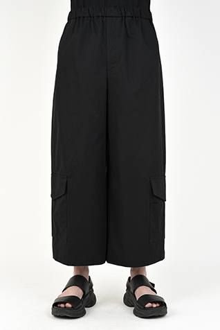 CROPPED WIDE CARGO PANTS
