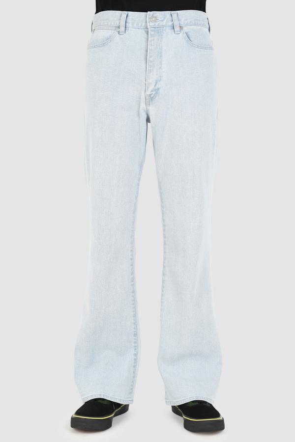 STRETCH DENIM  SLIM FLARE PANTS